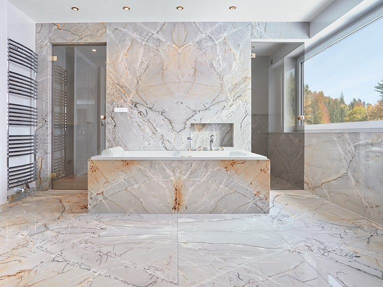 Luxus Naturstein Masterbad aus Quarzite Dolce Stein